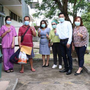 จำหน่ายผู้ป่วยหายจากการติดเชื้อไวรัสโคโรนา 2019 กลับบ้านราย